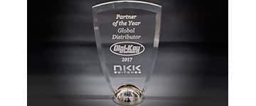 Image of NKK Switches' 2017 Partner of the Year, Global Distributor Award presented to Digi-Key